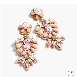 J crew beaded embroidered earrings NWT